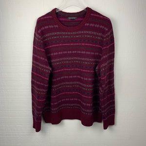 Banana Republic Maroon Merino Wool Blend Sweater